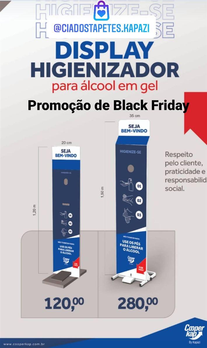 Totem Display de Álcool e Gel Dois tamanhos disponíveis a pronta entrega Para Frasco de 500ml Para Galão de 5 litros