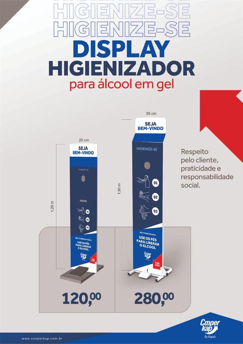 Display Higienizador para Álcool em Gel 1,5M para 5 litros de Álcool - R$ 200,00 Pronta entrega Condições especiais! Contato para pedidos e orçamentos (35) 99822-4565 - Whatsapp Leandro Teixeira