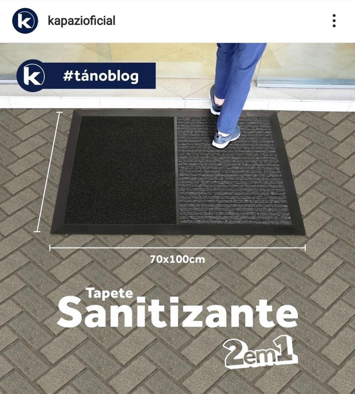 """Tapete Sanitizante 2 em 1 Na primeira parte você usa a solução Sanitizante """"combate Covid-19"""" para limpar os calçados, na segunda parte você utiliza para secar os mesmos"""