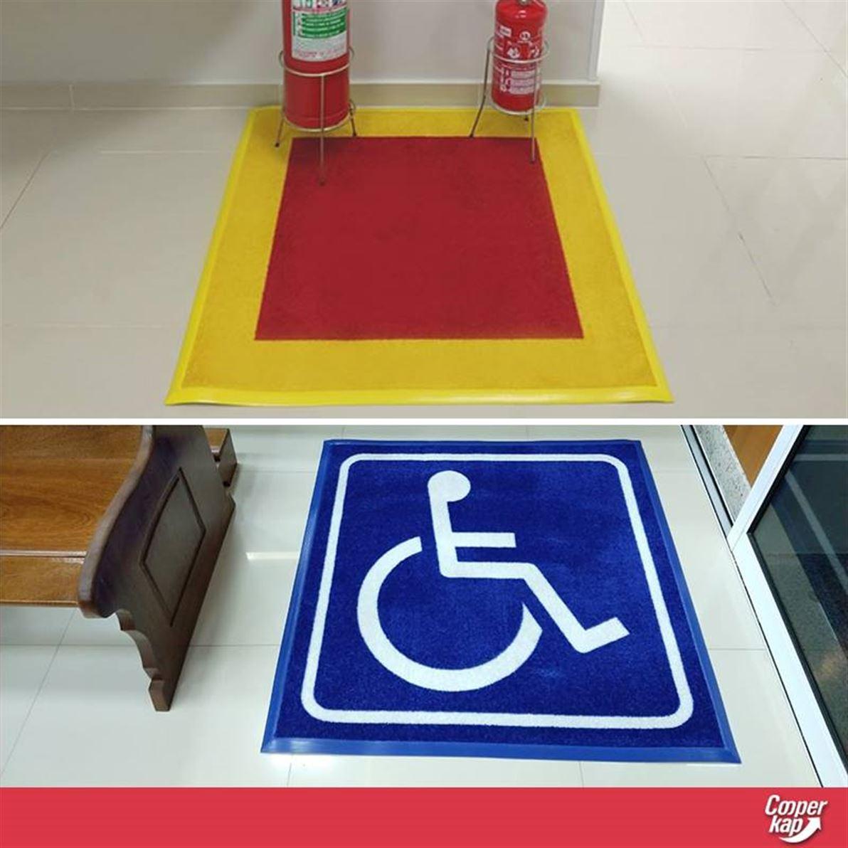 Tapete Personalizado Cleankap - Limpa e Seca os Pés exclusividade de personalização no Brasil