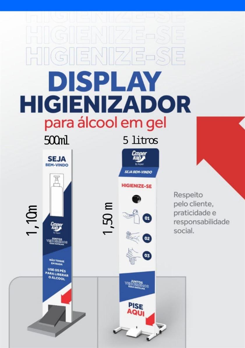 Display (totem) Higienizador para Álcool em Gel Disponível em dois tamanhos
